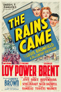 "Movie Posters:Adventure, The Rains Came (20th Century Fox, 1939). One Sheets (2) (27"" X 41"")Style A & B. Adventure.. ... (Total: 2 Items)"