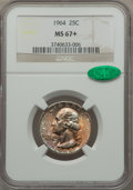 Washington Quarters, 1964 25C MS67+ NGC. CAC....