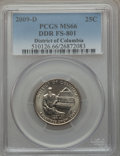 Statehood Quarters, 2009-D 25C District of Columbia, Doubled Die Obverse, FS-801, MS66PCGS....