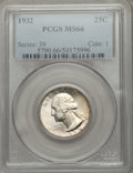 Washington Quarters: , 1932 25C MS66 PCGS. PCGS Population (205/3). NGC Census: (89/2).Mintage: 5,404,000. Numismedia Wsl. Price for problem free...