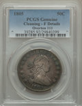 Early Half Dollars, 1805 50C O-111, R.2, -- Cleaned -- PCGS Genuine. Fine Details. PCGSPopulation (1/6). ...