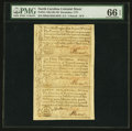 Colonial Notes:North Carolina, North Carolina December, 1771 2s 6d-£1-10s Vertical Strip of Three PMG Gem Uncirculated 66 EPQ.. ...