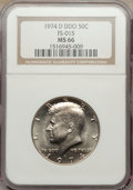 Kennedy Half Dollars: , 1974-D 50C Doubled Die Obverse MS66 NGC. FS-015. PCGS Population(8/0). ...