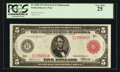 Fr. 840b $5 1914 Red Seal Federal Reserve Note PCGS Very Fine 25