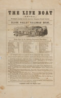 Books:Americana & American History, [Americana]. The Life Boat. Published monthly by theAmerican Seamen's Friend Society. Two integral leaves, with...