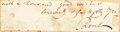 "Autographs:Artists, Samuel Prout (British watercolor architectural painter, 1783-1852).Clipped Signature. Adhered to backing. Measures 5.75"" x ..."