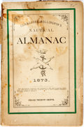 Books:Americana & American History, [Almanac]. Commodore Rollingpin's Nautical Almanac. 1873.Original printed wrappers. Spine perished. Dampstaining, s...