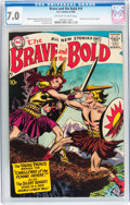 Silver Age (1956-1969):Adventure, The Brave and the Bold #19 Viking Prince and Silent Knight (DC, 1958) CGC FN/VF 7.0 Off-white to white pages....
