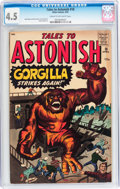 Silver Age (1956-1969):Horror, Tales to Astonish #18 (Marvel, 1961) CGC VG+ 4.5 Cream to off-whitepages....