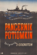 "Movie Posters:War, Battleship Potemkin (CWF, R-1954). Polish One Sheet (22.5"" X33.5"").. ..."