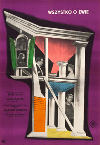 """All About Eve (20th Century Fox, 1960). Polish One Sheet (23"""" X 33"""")"""