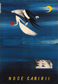 "Movie Posters:Drama, Nights of Cabiria (CWF, 1958). Full-Bleed Polish One Sheet (23"" X33"").. ..."