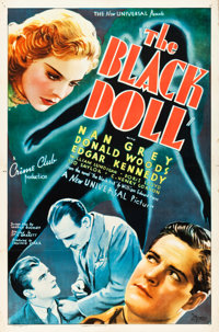 "The Black Doll (Universal, 1938). One Sheet (27"" X 41"")"
