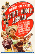 """Movie Posters:Comedy, Artists and Models Abroad (Paramount, 1938). One Sheet (27"""" X 41"""").. ..."""