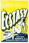 "Movie Posters:Romance, Ecstasy (1930s). Independent Regional One Sheet (28"" X 42"").. ..."
