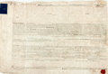 Autographs:Non-American, Land Indenture in the Reign of George III. April 29, 1782. Vellum.Signed and sealed by all applicable parties. Stained and ...