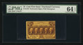 Fractional Currency:First Issue, Fr. 1279 25¢ First Issue PMG Choice Uncirculated 64 EPQ.. ...
