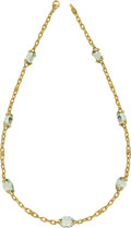 Estate Jewelry:Necklaces, Judith Ripka Prasiolite, Diamond, Gold Necklace. ...