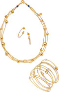 Estate Jewelry:Suites, Gurhan Multi-Stone, Gold Jewelry. ... (Total: 3 Items)