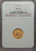 Indian Quarter Eagles: , 1927 $2 1/2 MS63 NGC. NGC Census: (3758/2995). PCGS Population(2805/2350). Mintage: 388,000. Numismedia Wsl. Price for pro...