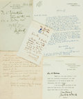 Autographs:Authors, [British Authors]. Group Lot of Autograph and Typed Letters Signed. Includes Mayne Reid, R. Murray Gilchrist, John Galsworth...