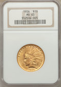 Indian Eagles: , 1926 $10 MS63 NGC. NGC Census: (14883/5047). PCGS Population(11151/3695). Mintage: 1,014,000. Numismedia Wsl. Price for pr...
