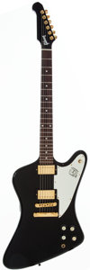Musical Instruments:Electric Guitars, 2007 Gibson Firebird Studio Black Solid Body Electric Guitar,#004070433.. ...