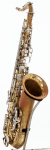 Musical Instruments:Horns & Wind Instruments, Late 1930's King Zephyr Brass Tenor Saxophone, #145887....