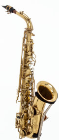 Musical Instruments:Horns & Wind Instruments, 1926 Martin Handcraft Brass Alto Saxophone, #67977....