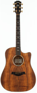 Musical Instruments:Acoustic Guitars, 1998 Taylor K-20-C Natural Acoustic Guitar, #981014141....
