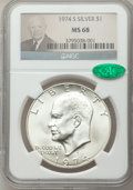 Eisenhower Dollars: , 1974-S $1 Silver MS68 NGC. CAC. NGC Census: (175/1). PCGS Population (973/3). Mintage: 1,900,156. Numismedia Wsl. Price for...