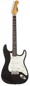Musical Instruments:Electric Guitars, 1990 Fender Stratocaster Plus Black Solid Body Electric Guitar, #E82289....