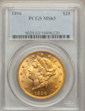 Liberty Double Eagles: , 1896 $20 MS63 PCGS. PCGS Population (907/136). NGC Census:(1481/178). Mintage: 792,500. Numismedia Wsl. Price for problem ...