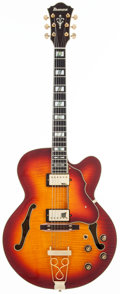 Musical Instruments:Electric Guitars, 2011 Ibanez AF155 Sunburst Archtop Electric Guitar, #S12110001....