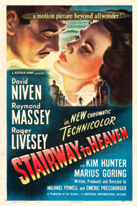 "Stairway to Heaven (Universal International, 1946). One Sheet (27"" X 41"")"