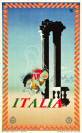 "Movie Posters:Miscellaneous, Italian Travel Poster (ENIT, 1935). Poster (24.5"" X 39.5"") Artist:A.M. Cassandre.. ..."