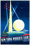 "Movie Posters:Miscellaneous, New York World's Fair 1939 Travel Poster (Grinnell Litho. Co.,1939)Poster (13.5"" X 20"") Artist: Joseph Binder.. ..."