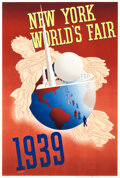"Movie Posters:Miscellaneous, New York World's Fair Travel Poster (Grinnell Litho Co., 1939).Poster (13.5"" X 20"") Artist: John Atherton.. ..."