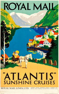 """Royal Mail Travel Poster (c.1935). Poster (25"""" X 40"""") Artist: Percy Padden"""