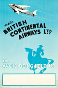"""Movie Posters:Miscellaneous, British Continental Airways Travel Poster (c.1936). Stock Poster (20"""" X 30"""").. ..."""