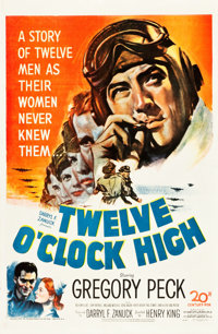 "Twelve O'Clock High (20th Century Fox, 1949). One Sheet (27"" X 41"")"
