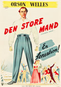 "Movie Posters:Drama, Citizen Kane (RKO, 1946-1947). Danish One Sheet (23.5"" X 33"").. ..."