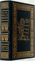 Books:Religion & Theology, Everett Fox, translator. The Five Books of Moses. Norwalk:The Easton Press, [2001]. Publisher's full leather with g...