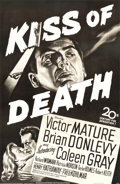 "Movie Posters:Film Noir, Kiss of Death (20th Century Fox, 1947). Full-Bleed One Sheet (26"" X39.75"").. ..."