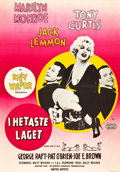 "Movie Posters:Comedy, Some Like It Hot (United Artists, 1959). Swedish One Sheet (27.5"" X39.5"").. ..."