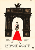 "Movie Posters:Romance, Roman Holiday (Paramount, 1959). Polish One Sheet (23"" X 33"").. ..."