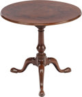 Furniture , A QUEEN ANNE-STYLE MAHOGANY TILT-TOP TABLE, 19th century. 27-1/4 inches high x 30 inches diameter (69.2 x 76.2 cm). WEIDER...