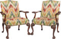 Furniture , A PAIR OF IRISH GEORGE III-STYLE UPHOLSTERED ARMCHAIRS, Yale R. Burge, New York, late 20th century. 41 x 34 x 25 inches (104... (Total: 2 Items)