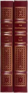 Books:Literature 1900-up, Ayn Rand. The Fountainhead. Norwalk: The Easton Press, 1989.Illustrated by Victoria Vebell. Publisher's full leathe... (Total:2 Items)