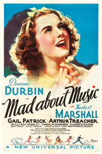 "Mad About Music (Universal, 1938). One Sheet (27"" X 41""). Musical"